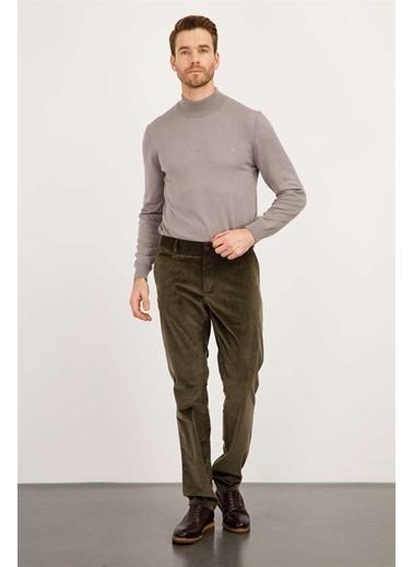 Ermenegildo Zegna Ermenegıldo Zegna Pantolon Erkek Yeşıl Regularfıt / Rahat Kalıp Std Pantolon Yeşil